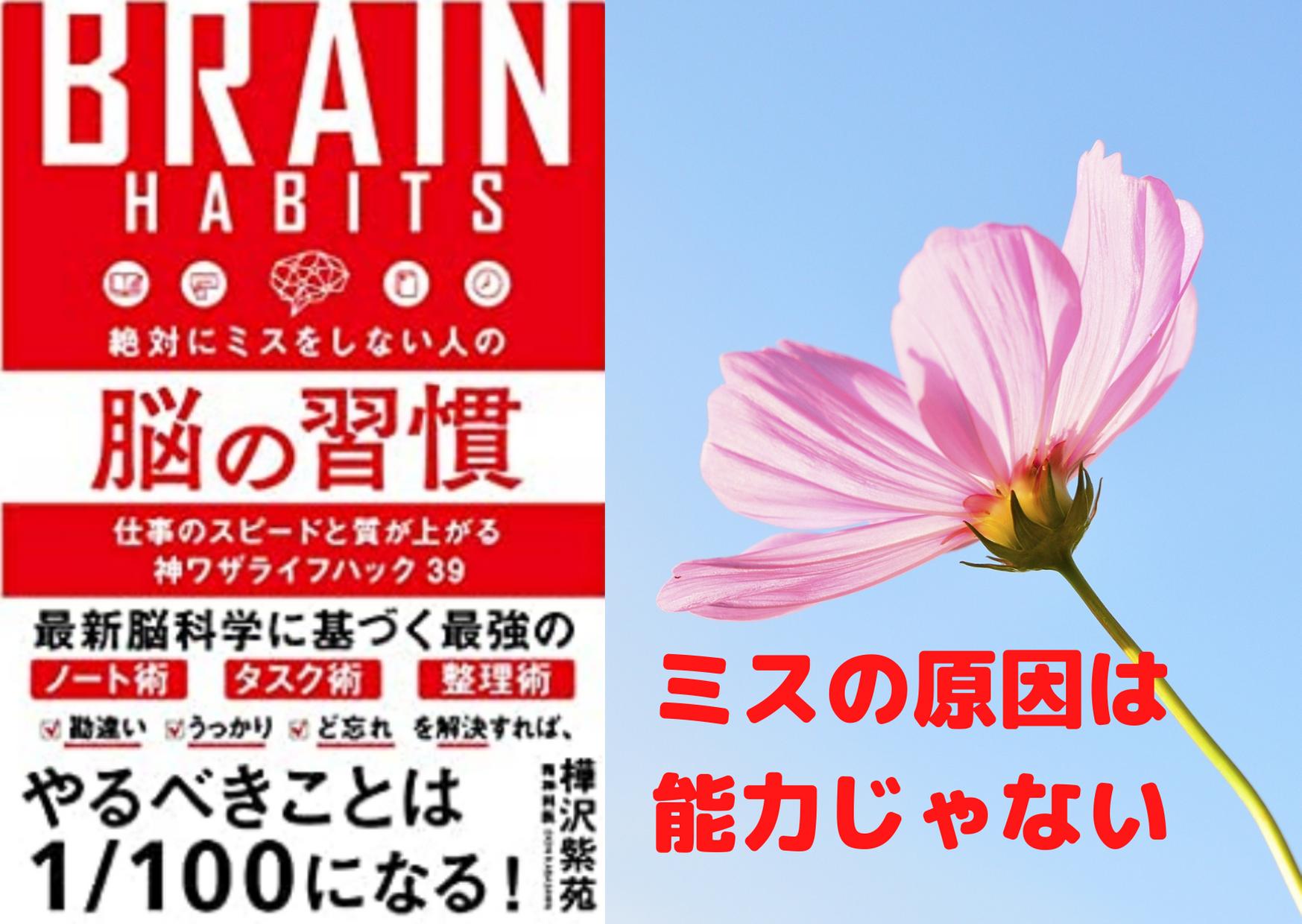 ミスが多い人の特徴・原因・対策【樺沢紫苑先生の脳の習慣から学ぶ】